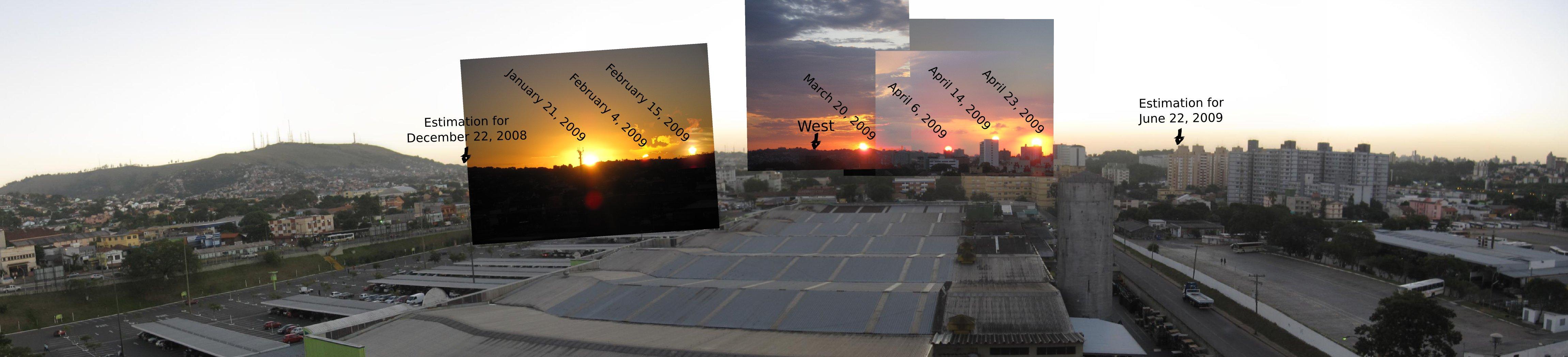 Por-do-sol panorâmico de Porto Alegre